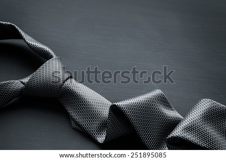 Grey men's tie - stock photo