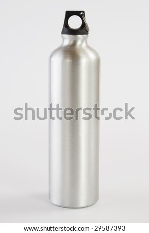 Grey metal water flask
