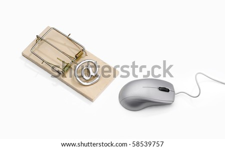 Grey mouse approaching a mousetrap