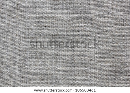 grey natural linen texture for the background - stock photo
