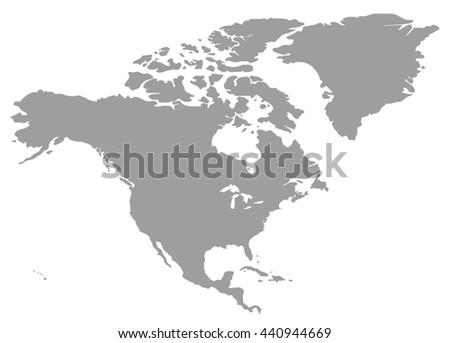 North America Map Stock Vector Shutterstock - North america map blank
