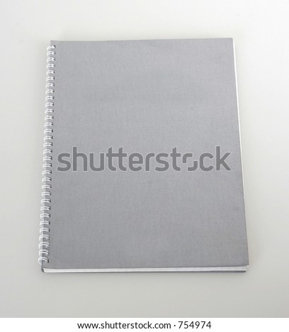 Grey notebook - stock photo