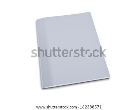 Grey notebook isolated on white background - stock photo