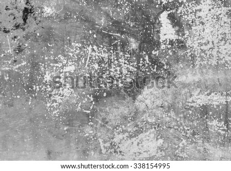Grey old metal background texture. Paint drips.