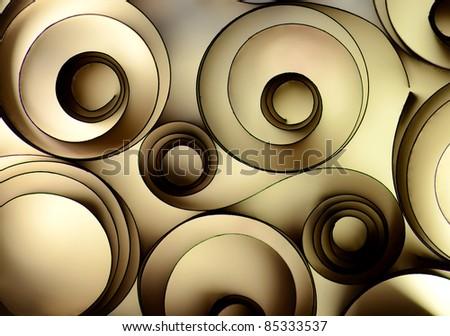 grey paper decoration - stock photo