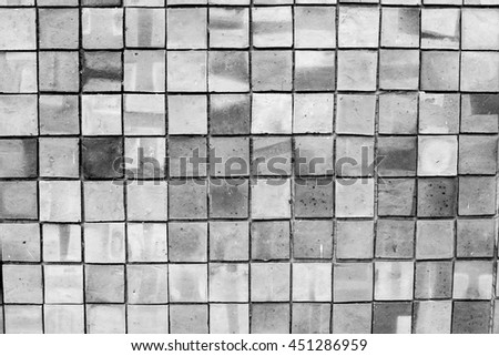 Grey pattern of decorative brown grey slate stone wall surface