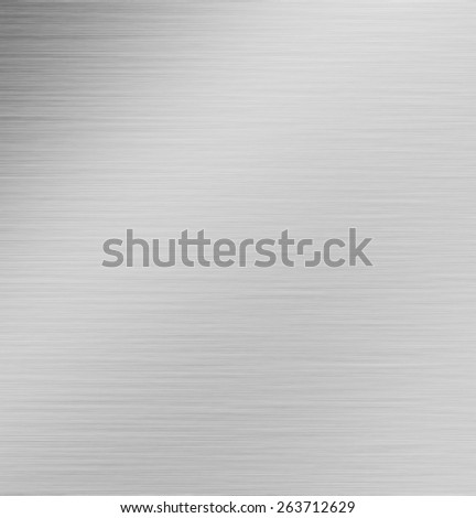 grey polished metal background texture - stock photo