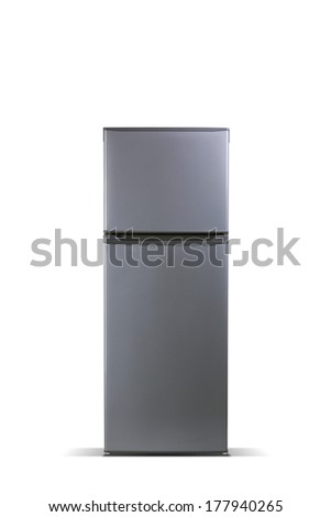 Grey refrigerator, fridge freezer