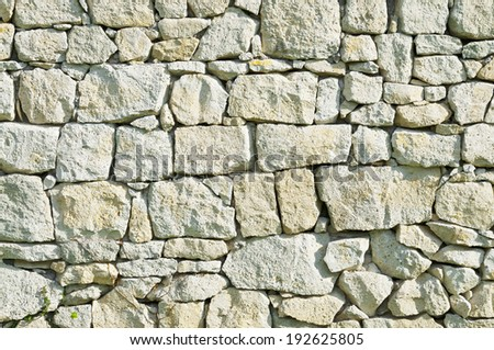 Grey rubble wall texture for background