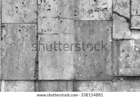 Grey sandstone tile texture background.