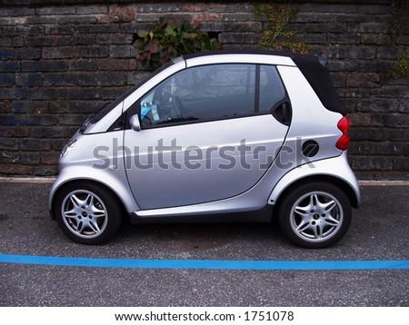 Grey smart car - stock photo