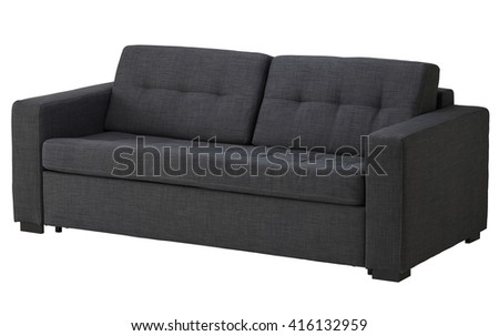 Grey sofa isolated on white include clipping path