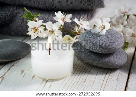 grey spa accessories