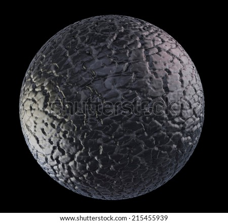 Grey sphere asteroid. Suitable for any fantasy, astronomy or space realted purposes. - stock photo