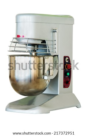 Grey stand mixer  isolated on a white background. - stock photo