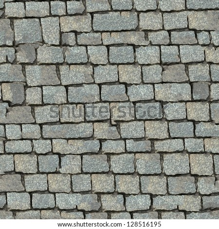 Grey Stone Block Seamless Texture. (more seamless backgrounds in my folio). - stock photo