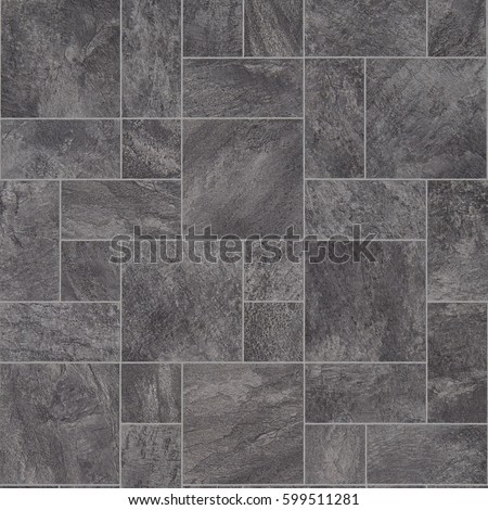 Grey Stone Tile Effect Vinyl Flooring
