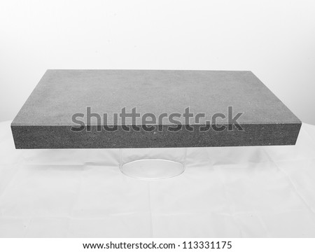 Grey Stone tile slab - stock photo