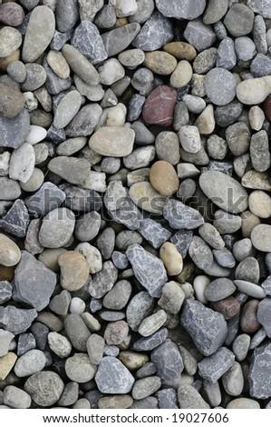 grey stones on the ground - stock photo