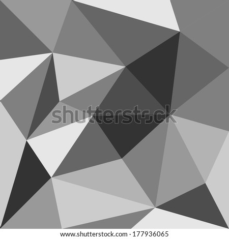 Grey triangle background or seamless pattern. Flat black and grey surface wrapping geometric mosaic for wallpaper or halloween website design