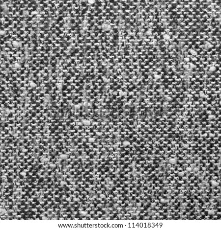 Grey tweed texture, gray wool pattern, textured salt and pepper style black and white melange fabric upholstery background - stock photo