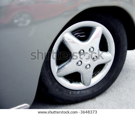 grey wheel well - stock photo