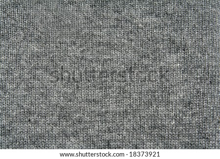 Grey wool texture - stock photo