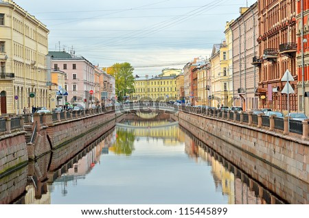 Griboyedov Canal in Saint Petersburg, Russia - stock photo