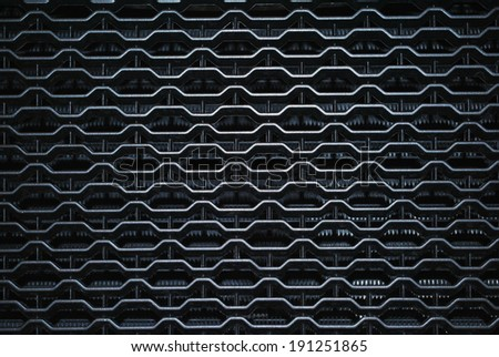 Grid of a sports car - stock photo