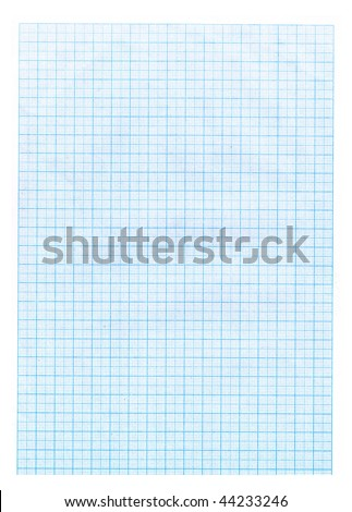 Grid paper texture. Blue grid or graph paper background. - stock photo