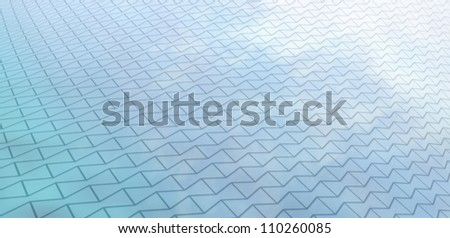 Grid Reflection - stock photo