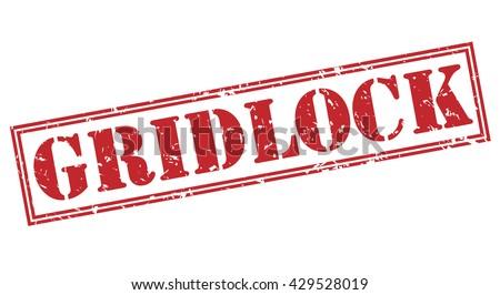 gridlock stamp - stock photo