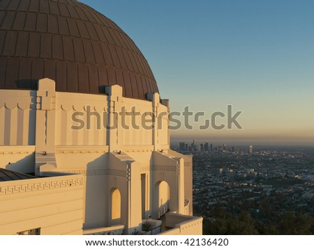 Griffith Observatory in Los Angeles - stock photo