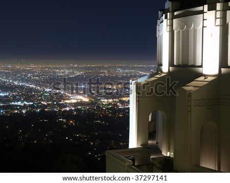 Griffith Park Observatory, famous Los Angeles city owned landmark.