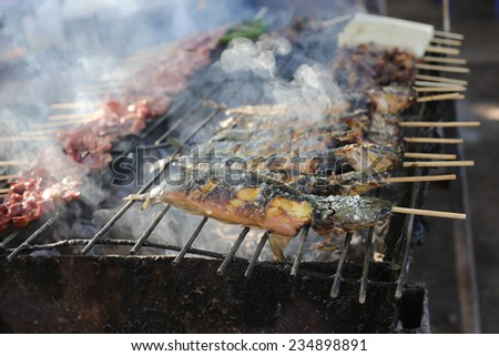 grill and smoke - stock photo