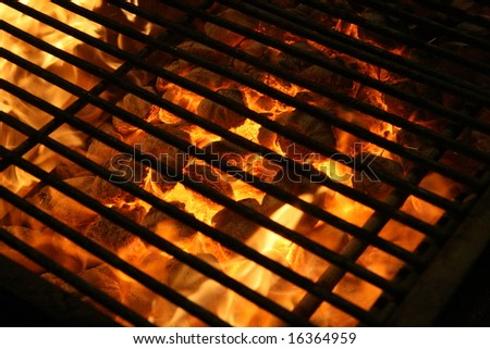 Grill background - stock photo
