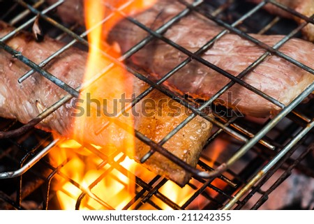 Grill beef - stock photo
