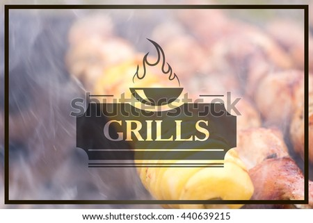 Grill blur with bokeh background. The Inscription Grills