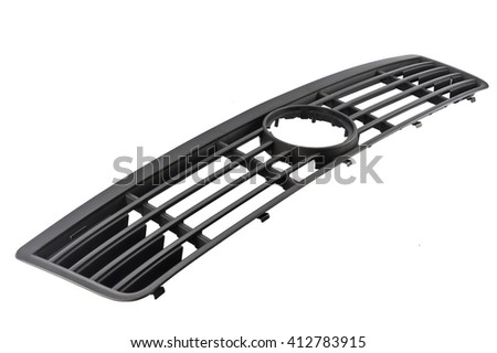grill car on a white background - stock photo