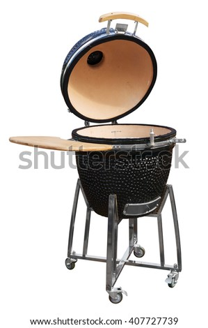 Grill isolated on white. Clipping path included. - stock photo