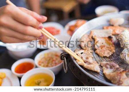 Grill Pork Bbq In Korea Style