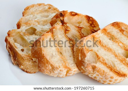 Grill Toasted Bread - stock photo