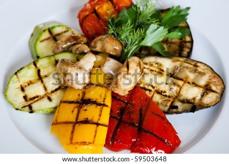 Grill Vegetables - stock photo