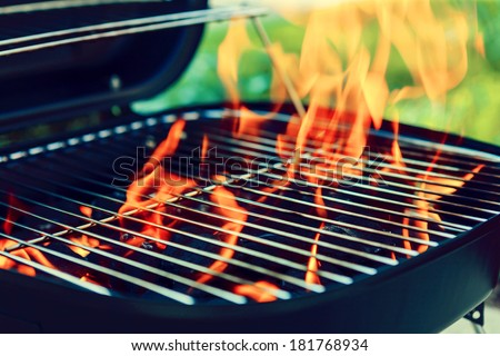 Grill With Big Flame