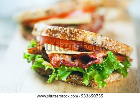 grilled bacon sandwich