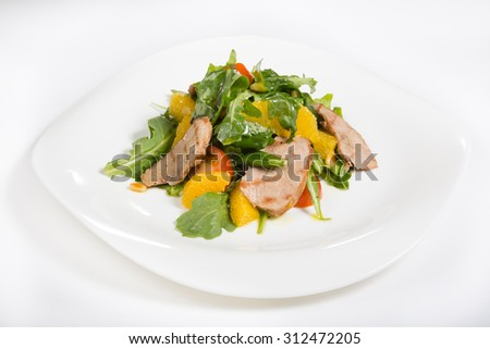 Grilled beef salad - stock photo