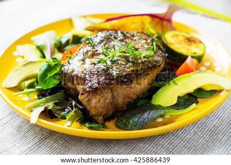 Grilled Sirloin Steak With Herbs Recipe — Dishmaps