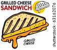 Grilled Cheese Sandwich - stock vector