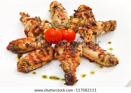 Grilled chicken - stock photo
