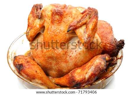 Grilled Chicken isolated on a white background
